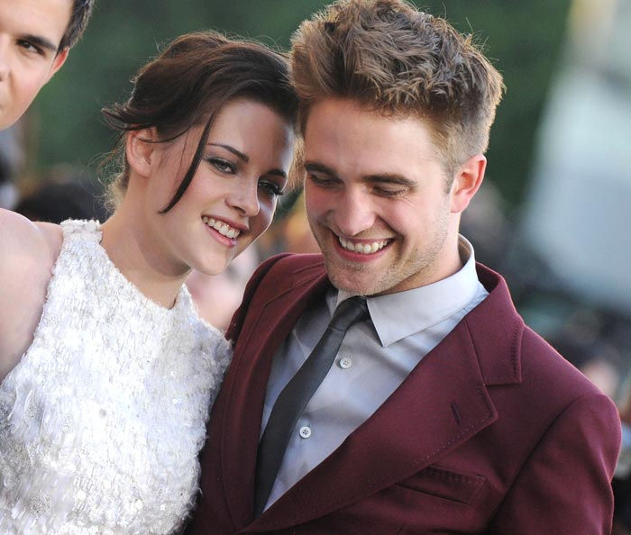 "Robert Pattinson and Kristen Stewart at the premiere of ""The Twilight Saga: Eclipse"" on June 24 at LA's Staples Center (BauerGriffin)"
