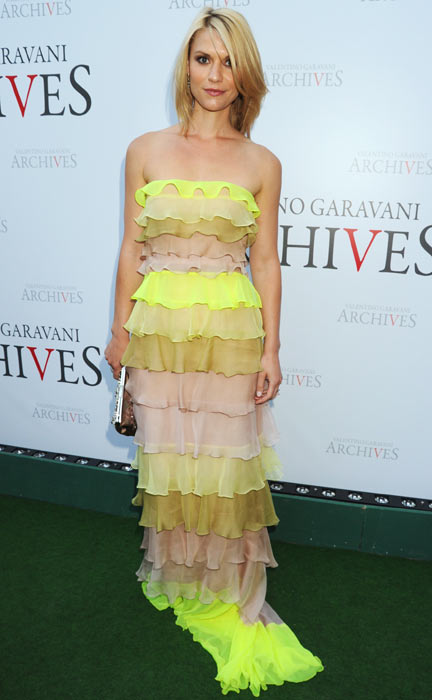 Claire Danes attends the Valentino Garavani Archives Dinner Party on July 7, 2010 in Versailles, France. (Getty Images)