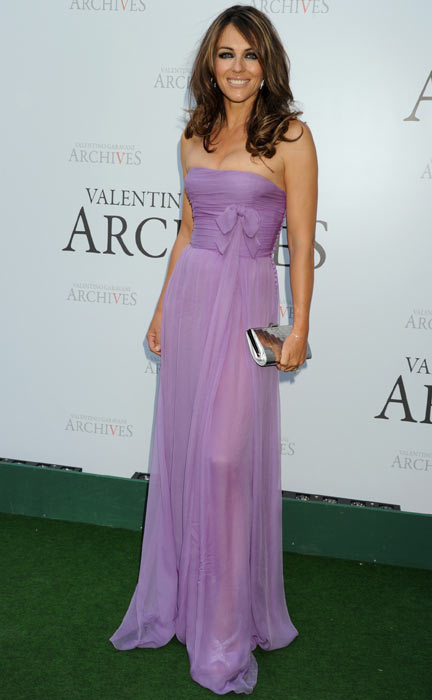 Elizabeth Hurley attends the Valentino Garavani Archives Dinner Party on July 7, 2010 in Versailles, France. (Getty Images)