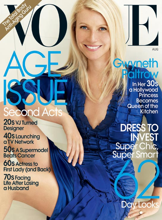 Gwyneth Paltrow appears in the August 2010 issue of 'Vogue.'