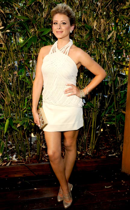 "Lo Bosworth poses during MTV'S ""The Hills Live: A Hollywood Ending"" Finale on July 13, 2010 in Hollywood, California."