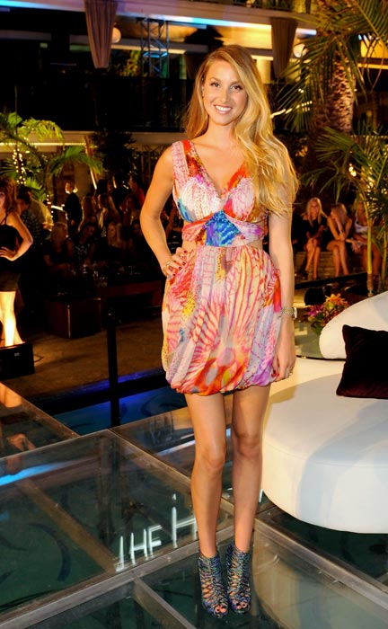 "Whitney Port poses during MTV'S ""The Hills Live: A Hollywood Ending"" Finale on July 13, 2010 in Hollywood, California."
