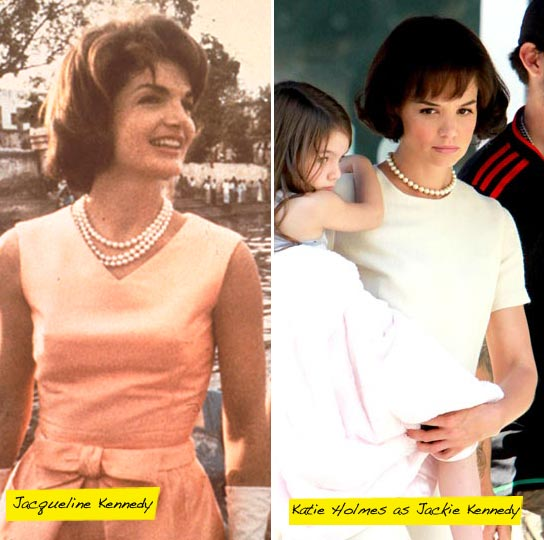 Jacqueline Kennedy and Katie Holmes.