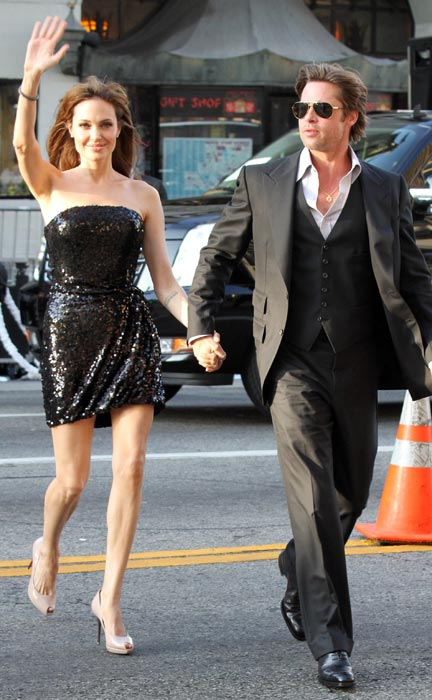 Angelina Jolie and Brad Pitt are seen on July 19, 2010 in Los Angeles, California.
