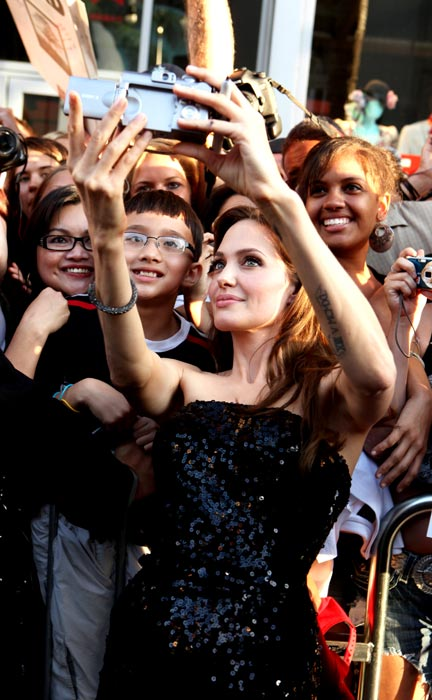 """Angelina Jolie at the Premiere of Columbia Pictures' """"SALT"""" on July 19, 2010 at the Graumans' Chinese Theatre in Hollywood, California."""