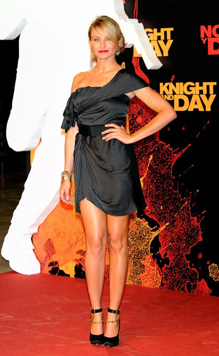 Cameron Diaz attends the 'Knight and Day' world premiere at the Lope de Vega theatre on June 16, 2010 in Seville, Spain. (Getty Images)
