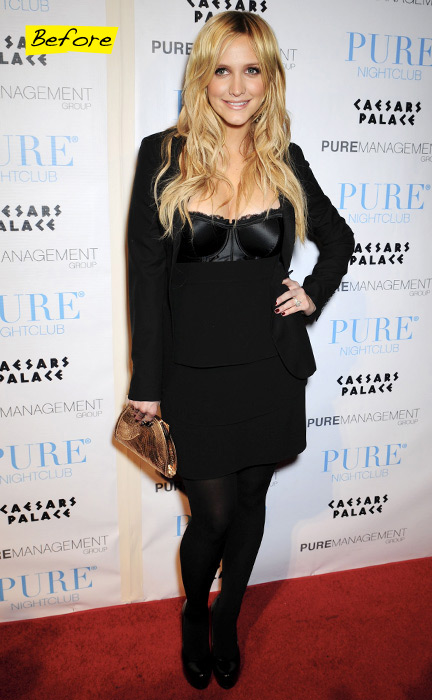 Ashlee Simpson ringing in the New year with Purefection at Pure nightclub's New Years Eve party inside Caesars Palace, Las Vegas, Nevada. December 31, 2008. (SplashNews.com)