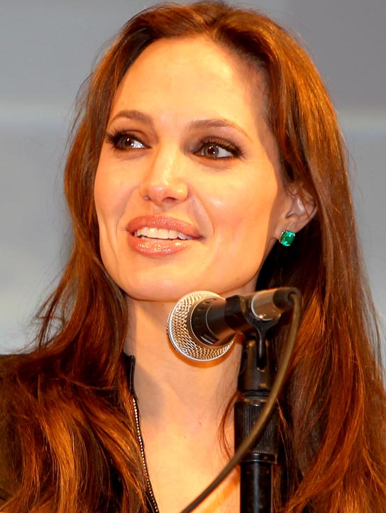 Angelina Jolie talks about her new movie 'Salt' at Comic Con in San Diego. July 22, 2010