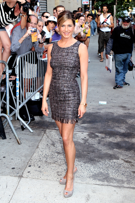 Jennifer Aniston at Jon Stewart show in NYC. 8/19/10