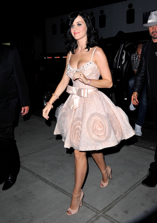 Katy Perry arrives to the Gansevoort Park Hotel on August 24, 2010 in New York City.