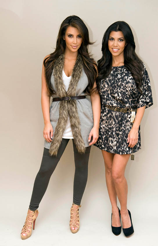 Kim and Kourtney Kardashian model their QVC line, K-Dash.