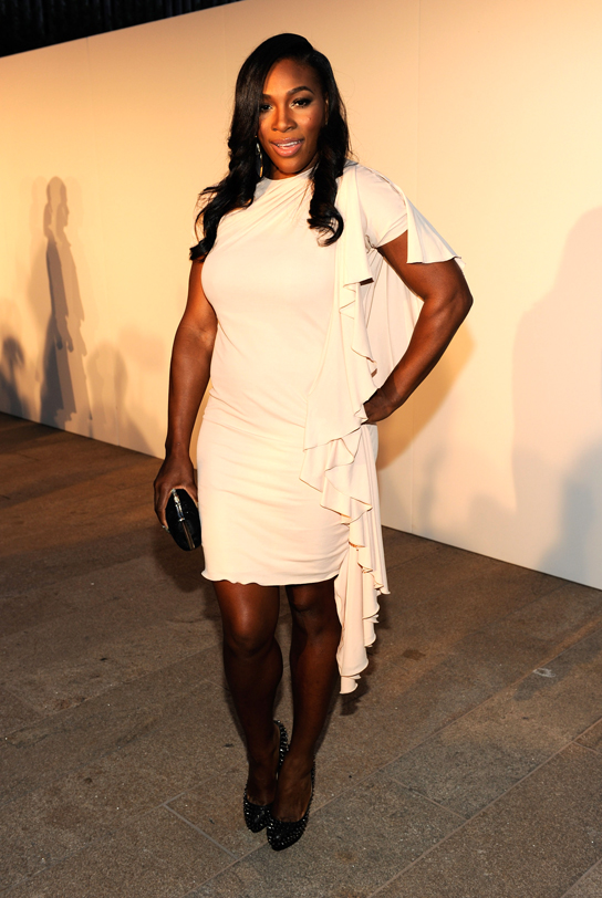 Serena Williams attends Fashion's Night Out: The Show at Lincoln Center on September 7, 2010 in New York City.
