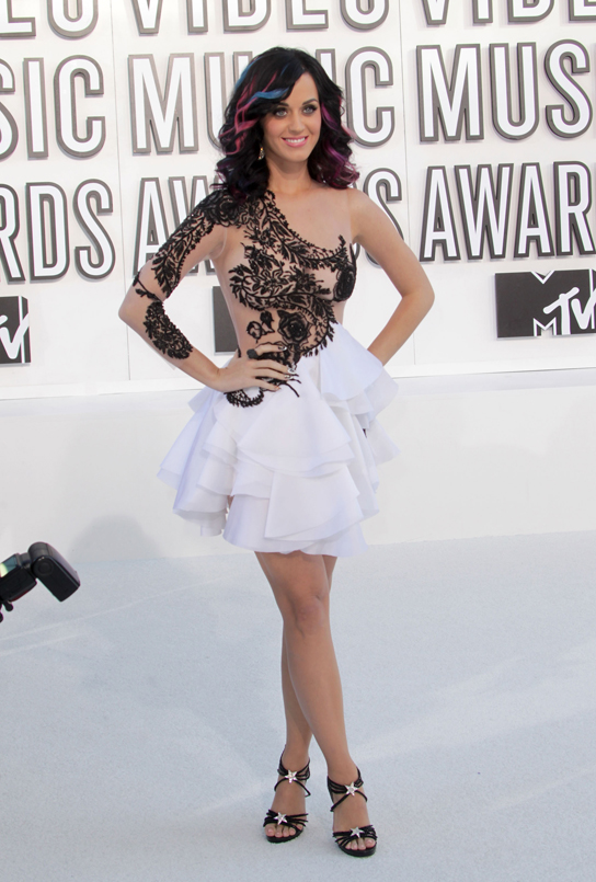Katy Perry at the 2010 MTV Video Music Awards held at Nokia Theatre L.A. Live on September 12, 2010 in Los Angeles, California.